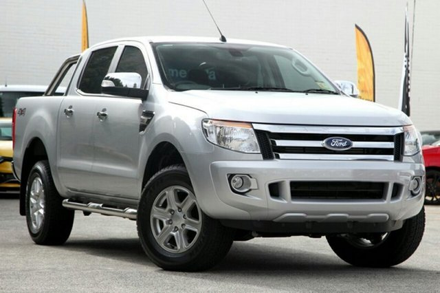 Demo Ford Ranger PX XLT Double Cab, 2014 Ford Ranger PX XLT Double Cab Highlight Silver 6 Speed Sports Automatic Utility