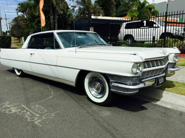 Used Cadillac Coupe Deville Springwood, 1964 Cadillac Coupe Deville White Automatic Coupe