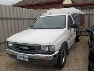 1996 Holden Rodeo TF G6 LX White 5 Speed Manual Cab Chassis.