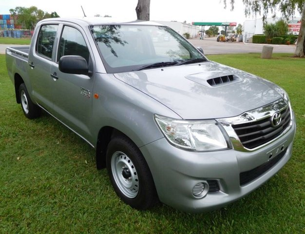 Used Toyota Hilux KUN16R MY14 SR Double Cab, 2015 Toyota Hilux KUN16R MY14 SR Double Cab Silver 5 Speed Manual Utility