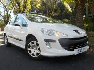 2008 Peugeot 308 T7 XS White 4 Speed Sports Automatic Hatchback.