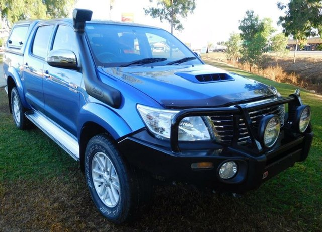 Used Toyota Hilux KUN26R MY12 SR5 Double Cab, 2012 Toyota Hilux KUN26R MY12 SR5 Double Cab Blue 5 Speed Manual Utility