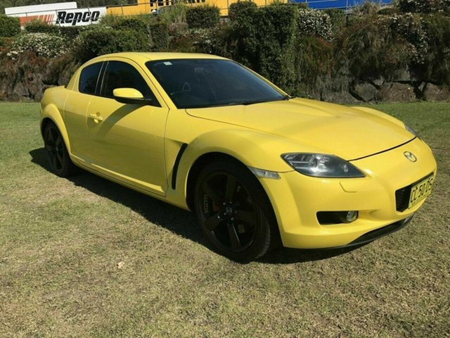 Used Mazda RX-8 FE1031 , 2003 Mazda RX-8 FE1031 Yellow 6 Speed Manual Coupe
