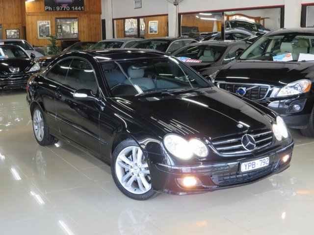 Used Mercedes-Benz CLK280 C209 MY06 Avantgarde, 2005 Mercedes-Benz CLK280 C209 MY06 Avantgarde Obsidian Black 7 Speed Automatic G-Tronic Coupe