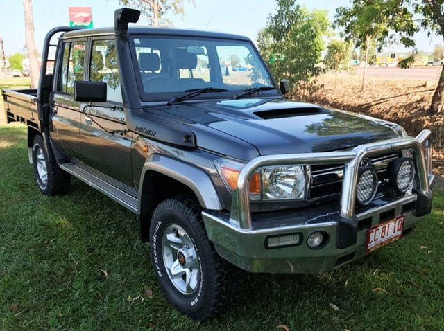 Used Toyota Landcruiser VDJ79R MY13 GXL Double Cab, 2012 Toyota Landcruiser VDJ79R MY13 GXL Double Cab Grey 5 Speed Manual Cab Chassis