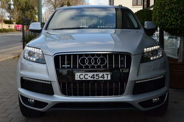 Used Audi Q7 MY10 TDI Quattro, 2010 Audi Q7 MY10 TDI Quattro Silver Metallic 6 Speed Sports Automatic Wagon