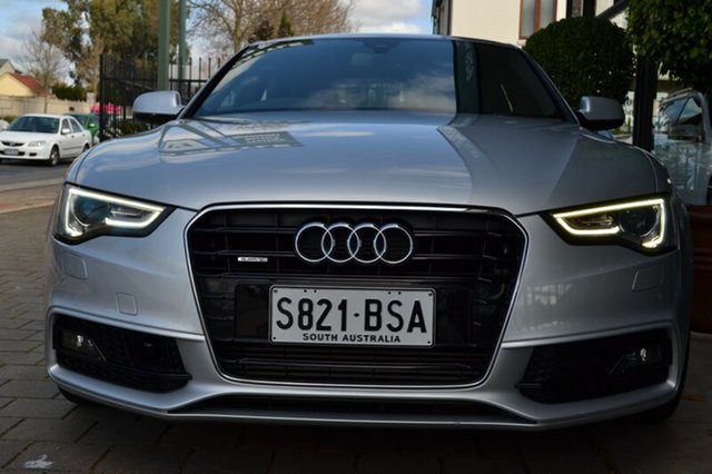 Used Audi A5 8T MY12 Sportback S tronic quattro, 2012 Audi A5 8T MY12 Sportback S tronic quattro Silver Metallic 7 Speed Sports Automatic Dual Clutch