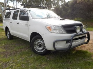 2007 Toyota Hilux KUN16R MY07 SR White 5 Speed Manual Utility.