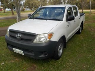 2008 Toyota Hilux TGN16R MY08 Workmate White 5 Speed Manual Utility.