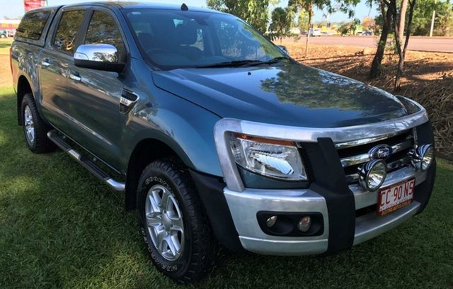 Used Ford Ranger PX XLT Double Cab, 2013 Ford Ranger PX XLT Double Cab Green 6 Speed Sports Automatic Utility