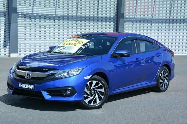 Used Honda Civic 10th Gen MY16 VTi-S, 2016 Honda Civic 10th Gen MY16 VTi-S Blue 1 Speed Constant Variable Sedan