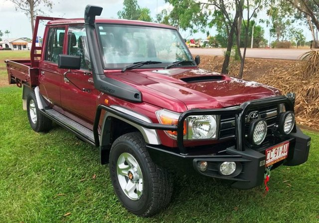 Used Toyota Landcruiser VDJ79R GXL Double Cab, 2015 Toyota Landcruiser VDJ79R GXL Double Cab Red 5 Speed Manual Cab Chassis