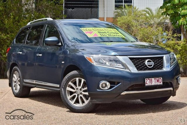 Used Nissan Pathfinder R52 MY14 ST-L X-tronic 2WD, 2013 Nissan Pathfinder R52 MY14 ST-L X-tronic 2WD Blue 1 Speed Constant Variable Wagon