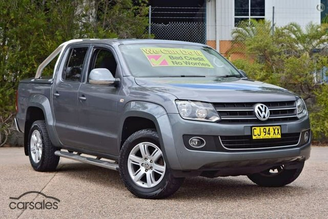 Used Volkswagen Amarok 2H MY13 TDI420 4Motion Perm Highline, 2013 Volkswagen Amarok 2H MY13 TDI420 4Motion Perm Highline Grey 8 Speed Automatic Utility