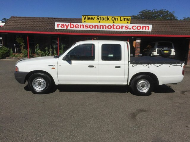 Used Ford Courier  , 1999 Ford Courier PE GL White 5 Speed Manual Dual Cab