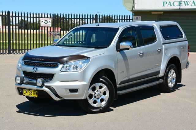 Used Holden Colorado RG MY13 LTZ Crew Cab, 2013 Holden Colorado RG MY13 LTZ Crew Cab Silver 6 Speed Sports Automatic Utility