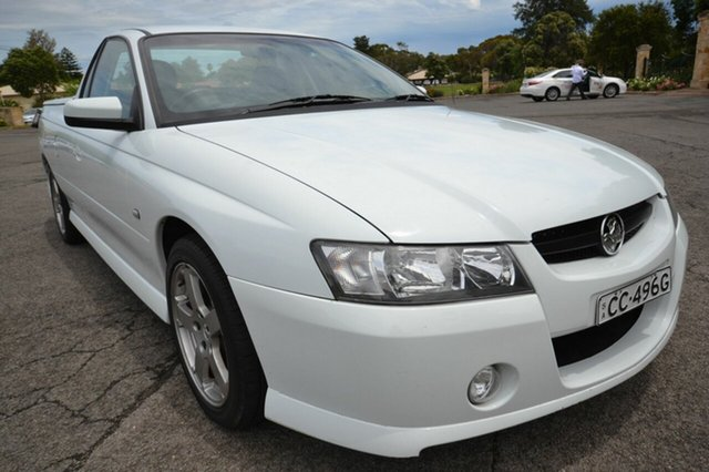 Used Holden Commodore Ute VZ SV6, 2007 Holden Commodore Ute VZ SV6 White 4 Speed Automatic Utility