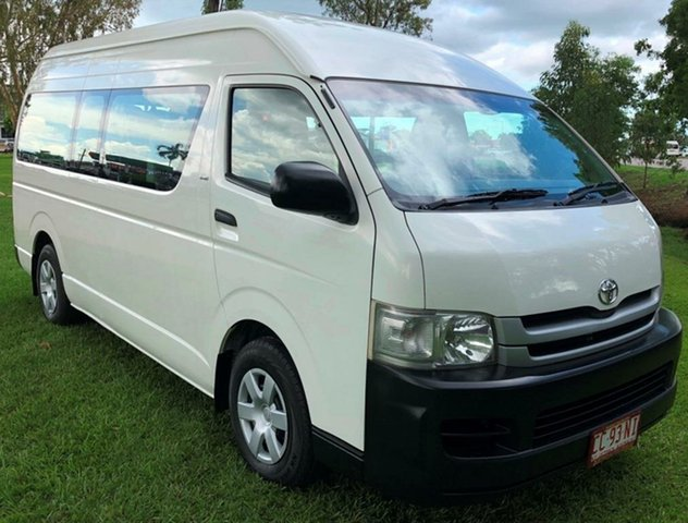 Used Toyota Hiace KDH223R MY10 Commuter High Roof Super LWB, 2009 Toyota Hiace KDH223R MY10 Commuter High Roof Super LWB White 5 Speed Manual Bus