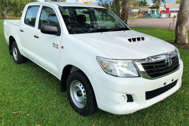 Used Toyota Hilux KUN16R MY14 SR Double Cab, 2014 Toyota Hilux KUN16R MY14 SR Double Cab White 5 Speed Manual Utility