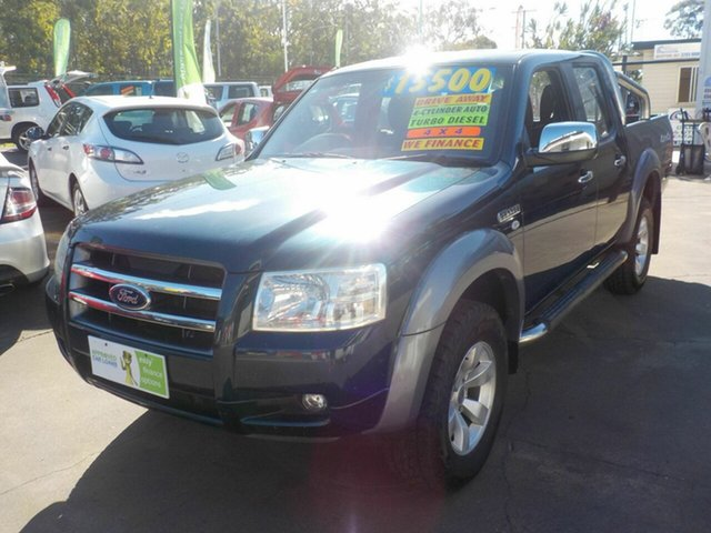 Used Ford Ranger PJ XLT (4x4), 2007 Ford Ranger PJ XLT (4x4) Green 5 Speed Automatic Dual Cab Pick-up