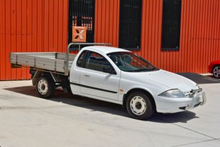 2000 Ford Falcon AU II XL Super Cab White 4 Speed Automatic Cab Chassis