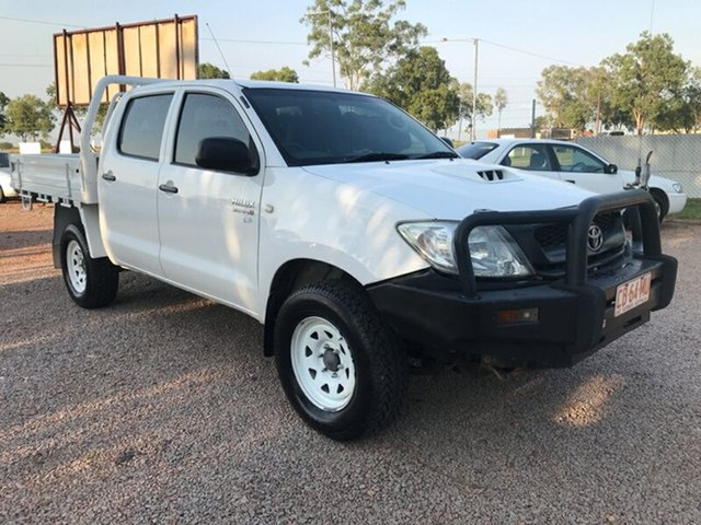 Used Toyota Hilux KUN26R MY09 SR, 2009 Toyota Hilux KUN26R MY09 SR White 5 Speed Manual Cab Chassis