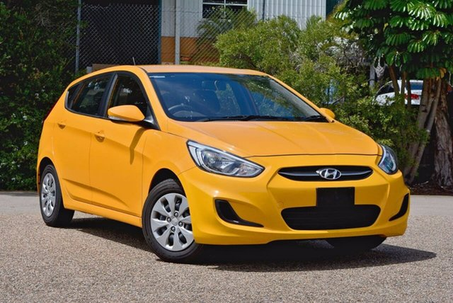 Used Hyundai Accent RB3 MY16 Active, 2016 Hyundai Accent RB3 MY16 Active Yellow 6 Speed Constant Variable Hatchback