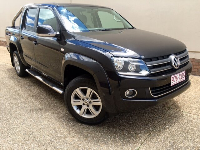 Used Volkswagen Amarok 2H MY13 TDI420 4Motion Perm Highline, 2012 Volkswagen Amarok 2H MY13 TDI420 4Motion Perm Highline Black 8 Speed Automatic Utility