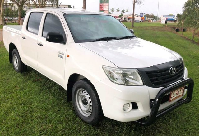 Used Toyota Hilux GGN15R MY12 SR Double Cab, 2012 Toyota Hilux GGN15R MY12 SR Double Cab White 5 Speed Automatic Utility