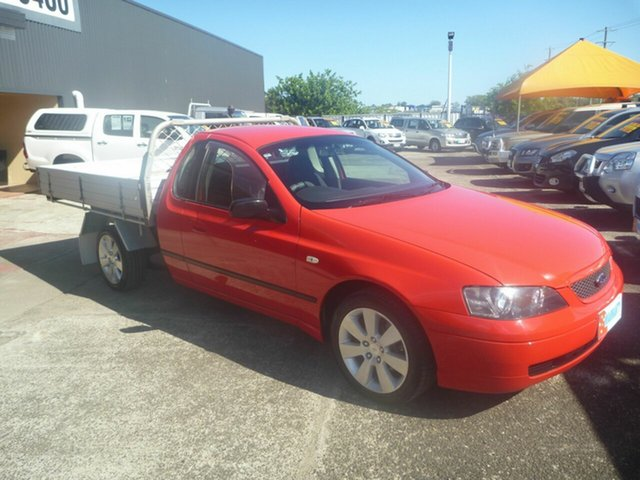 Used Ford Falcon BA MkII XLS, 2004 Ford Falcon BA MkII XLS Red 5 Speed Manual Cab Chassis