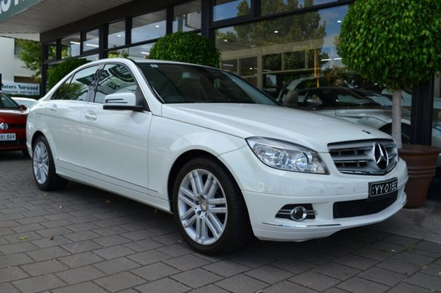 Used Mercedes-Benz C200 Kompressor W204 Classic, 2009 Mercedes-Benz C200 Kompressor W204 Classic White 5 Speed Sports Automatic Sedan
