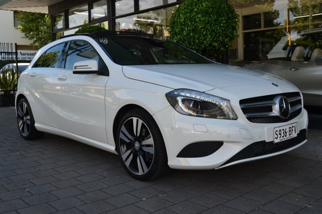 Used Mercedes-Benz A200 W176 D-CT, 2014 Mercedes-Benz A200 W176 D-CT White 7 Speed Sports Automatic Dual Clutch Hatchback