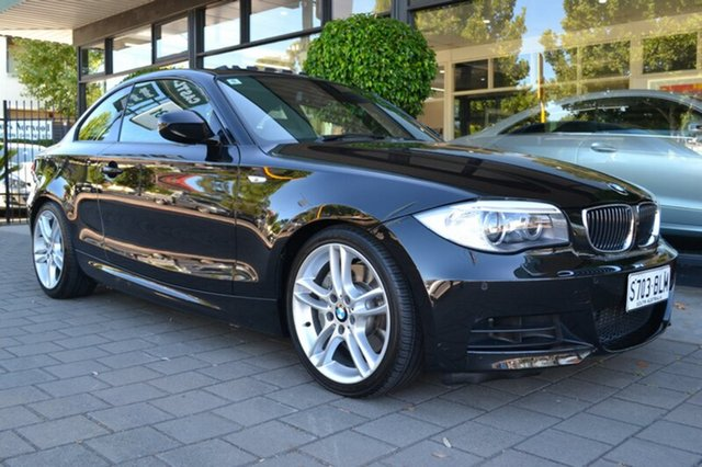 Used BMW 135I E82 LCI MY0911 M Sport D-CT, 2011 BMW 135I E82 LCI MY0911 M Sport D-CT Black Metallic 7 Speed Sports Automatic Dual Clutch Coupe