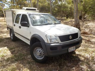 2006 Holden Rodeo RA MY06 LX Crew Cab White 4 Speed Automatic Utility.