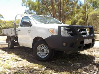 2006 Toyota Hilux TGN16R MY07 Workmate White 5 Speed Manual Cab Chassis.