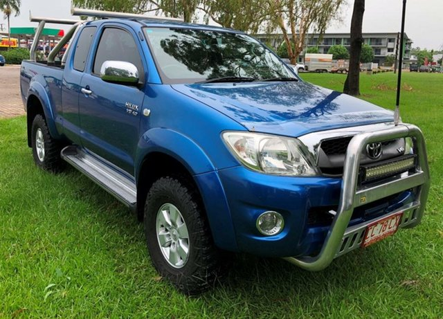 Used Toyota Hilux GGN25R MY10 SR5 Xtra Cab, 2010 Toyota Hilux GGN25R MY10 SR5 Xtra Cab Blue 5 Speed Manual Utility