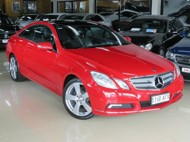 Used Mercedes-Benz E350 207 Elegance, 2009 Mercedes-Benz E350 207 Elegance Opal Fire 7 Speed Automatic G-Tronic Coupe