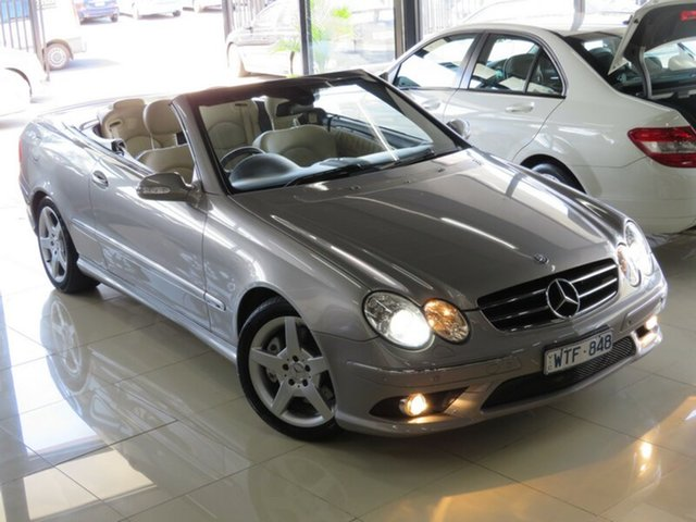 Used Mercedes-Benz CLK280 C209 07 Upgrade Avantgarde, 2008 Mercedes-Benz CLK280 C209 07 Upgrade Avantgarde Silver Slate 7 Speed Automatic G-Tronic Coupe