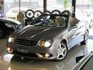 2008 Mercedes-Benz CLK280 C209 07 Upgrade Avantgarde Silver Slate 7 Speed Automatic G-Tronic Coupe.
