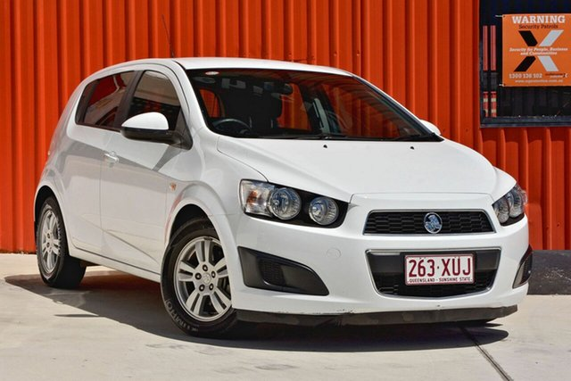 Used Holden Barina TM MY13 CD, 2012 Holden Barina TM MY13 CD White 5 Speed Manual Hatchback