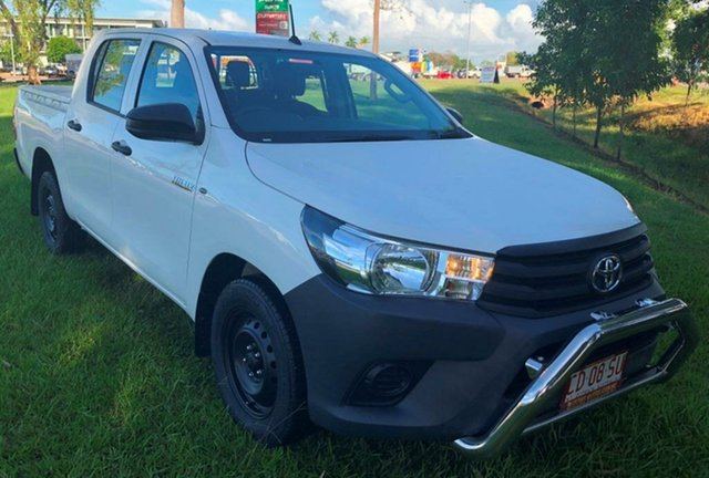 Used Toyota Hilux GUN122R Workmate Double Cab, 2016 Toyota Hilux GUN122R Workmate Double Cab White 5 Speed Manual Utility