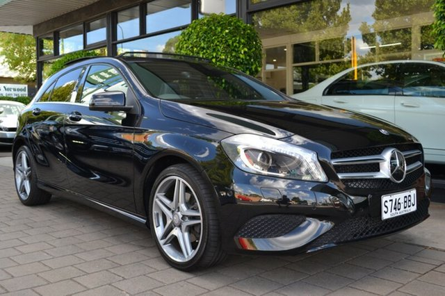 Used Mercedes-Benz A200 CDI W176 D-CT, 2014 Mercedes-Benz A200 CDI W176 D-CT Black Metallic 7 Speed Sports Automatic Dual Clutch Hatchback