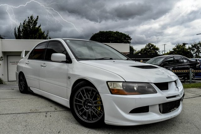 Used Mitsubishi Lancer CZ Evolution VIII MR, 2004 Mitsubishi Lancer CZ Evolution VIII MR White 6 Speed Manual Sedan