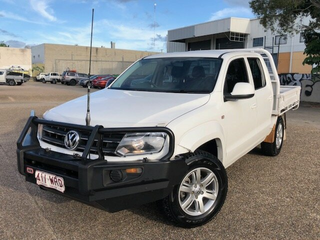 Used Volkswagen Amarok 2H MY14 TDI420 4Motion Perm Trendline, 2014 Volkswagen Amarok 2H MY14 TDI420 4Motion Perm Trendline White 8 Speed Automatic Cab Chassis