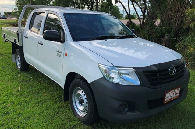 Used Toyota Hilux TGN16R MY14 Workmate Double Cab, 2015 Toyota Hilux TGN16R MY14 Workmate Double Cab White 4 Speed Automatic Utility
