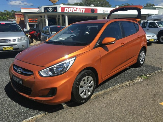 Used Hyundai Accent  , 2016 Hyundai Accent 1.4  AUTO Orange 5 Speed Automatic Hatchback