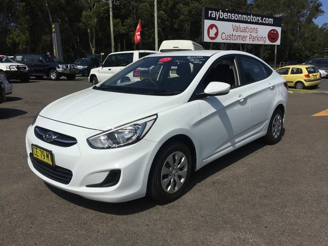Used Hyundai Accent  , 2015 Hyundai Accent RB3 AUTO White 4 Speed Automatic Sedan