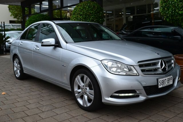 Used Mercedes-Benz C200 W204 MY11 BlueEFFICIENCY 7G-Tronic +, 2011 Mercedes-Benz C200 W204 MY11 BlueEFFICIENCY 7G-Tronic + Silver Metallic 7 Speed