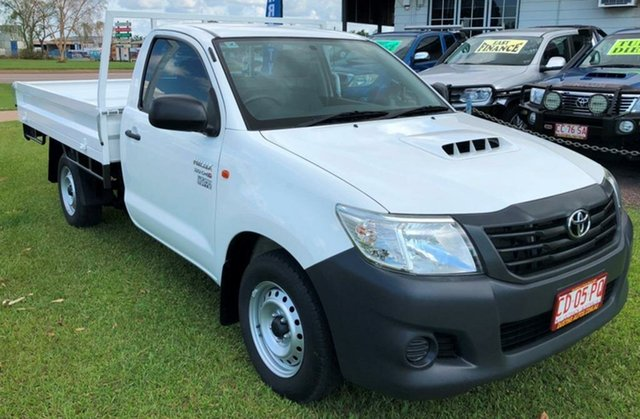 Used Toyota Hilux KUN16R MY12 Workmate, 2013 Toyota Hilux KUN16R MY12 Workmate White 5 Speed Manual Cab Chassis