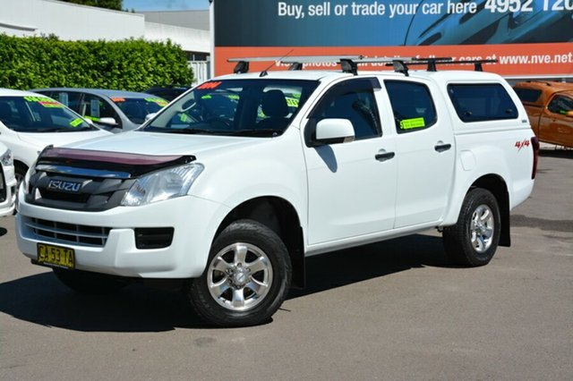 Used Isuzu D-MAX MY14 SX Crew Cab, 2014 Isuzu D-MAX MY14 SX Crew Cab White 5 Speed Manual Utility